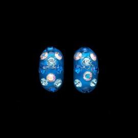 Nevada Blue Hawaii Domino Earrings