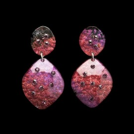 Monarch Plum Carapace Earrings
