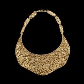 Lace Yellow Gold Colored Nefertiti Necklace