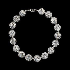 Lace White Medallion Necklace