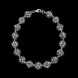 Lace Black Medallion Necklace