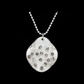 Nevada White Elongated Medallion Pendant