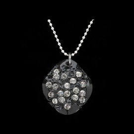 Nevada Black Elongated Medallion Pendant