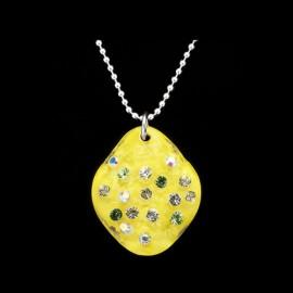 Nevada Yellow Hawaii Elongated Medallion Pendant