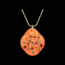 Nevada Orange Elongated Medallion Pendant