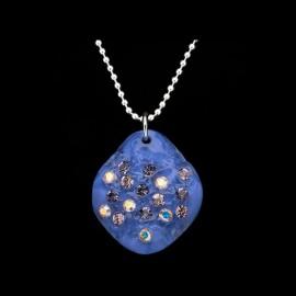 Nevada Lilac Blue Elongated Medallion Pendant