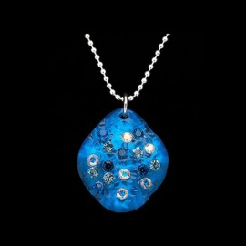 Nevada Blue Hawaii Elongated Medallion Pendant