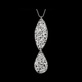 Lace White Teardrop Pendant