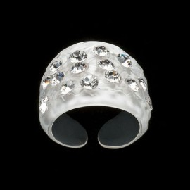 Nevada White Wide Ring