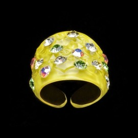 Nevada Yellow Hawaii Wide Ring