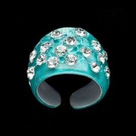 Nevada Cosmos Green Wide Ring