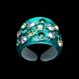 Nevada Green Hawaii Wide Ring