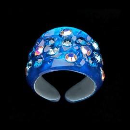 Nevada Blue Hawaii Wide Ring