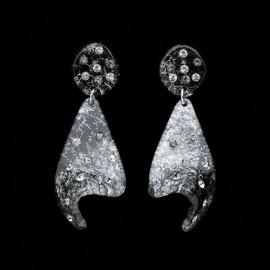 Monarch Black Voile Earrings