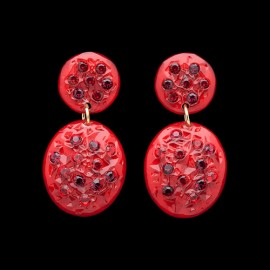 Nevada Red Carapace Earrings