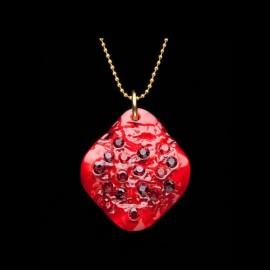 Nevada Red Elongated Medallion Pendant