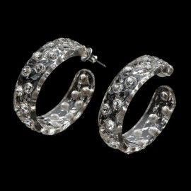 Nevada Transparent Hoop Earrings