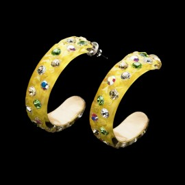 Nevada Yellow Hawaii Hoop Earrings