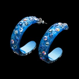 Nevada Blue Hawaii Hoop Earrings