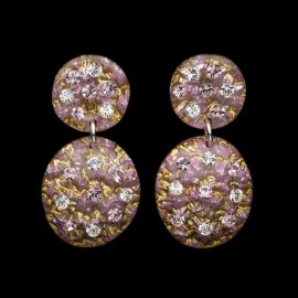 Monarch Cosmos Pink Carapace Earrings