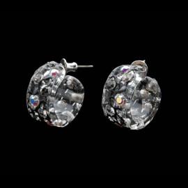 Lace Black Mini Hoop Earrings