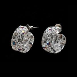 Lace White Mini Hoop Earrings