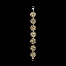 Lace Yellow Gold Colored Medallion Bracelet