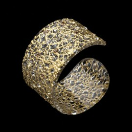 Lace Yellow Gold Colored Cuff Bracelet
