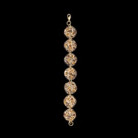 Lace Pink Gold Colored Medallion Bracelet
