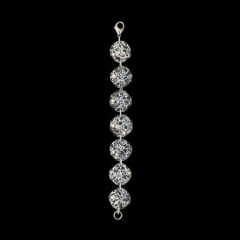 Lace Silver Colored Medallion Bracelet