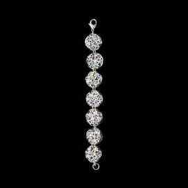 Lace White Medallion Bracelet