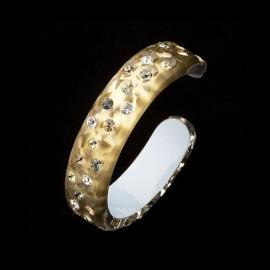 Nevada Yellow Gold Colored Bangle Bracelet