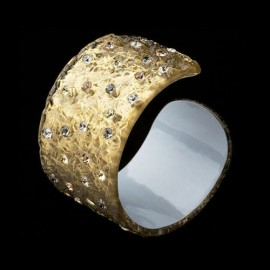 Nevada Yellow Gold Colored Cuff Bracelet