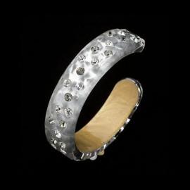 Nevada Silver Colored Bangle Bracelet