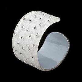Nevada White Cuff Bracelet