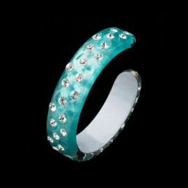 Nevada Cosmos Green Bangle Bracelet