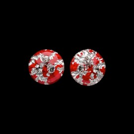 Monarch Red Medallion Earrings