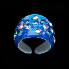 Nevada Blue Hawaii Wide Ring